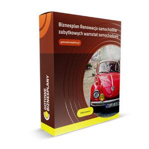 Biznesplan Renowacja samochodów zabytkowych/ warsztat samochodowy